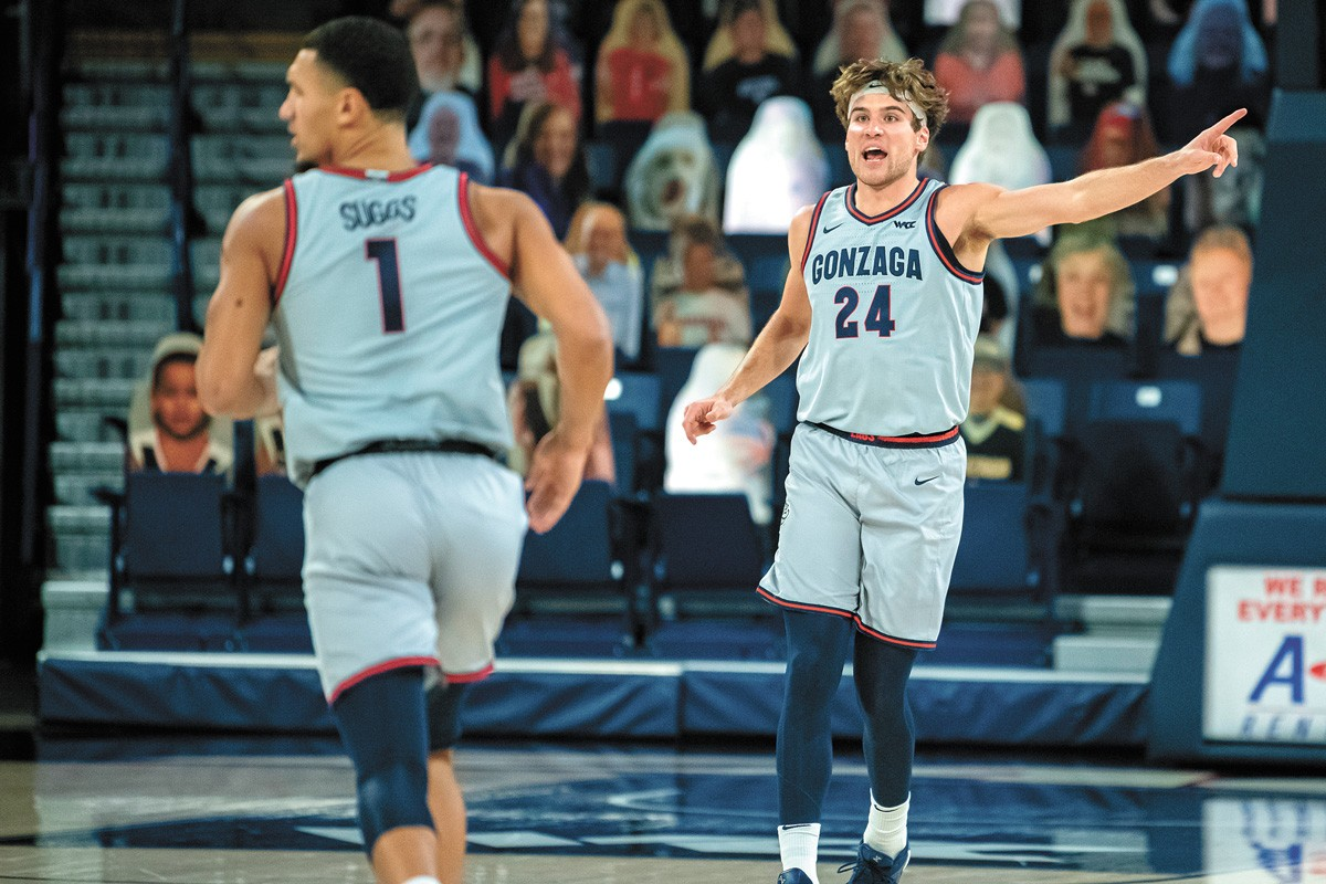 These two former high school quarterbacks could be key to Gonzaga winning its first national championship. - ERICK DOXEY PHOTO