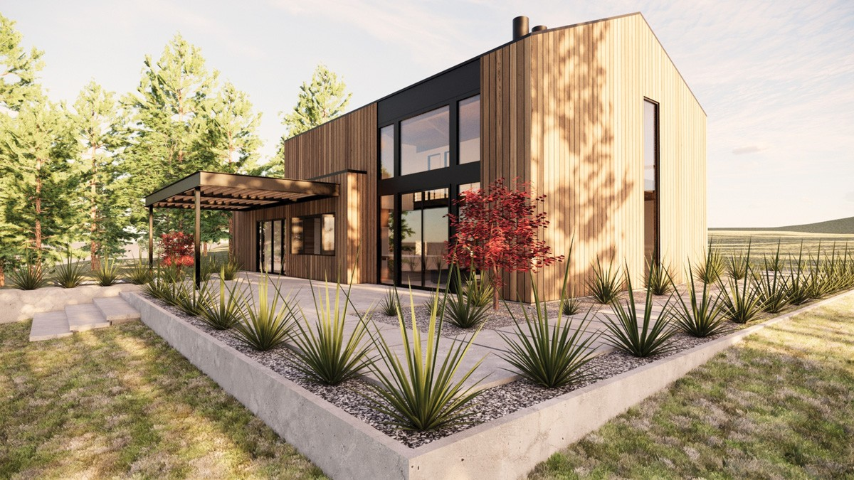 This project, titled Mountain Prairie home, was designed for a Colville client byHDG Architecture. - HDG ARCHITECTURE RENDERING