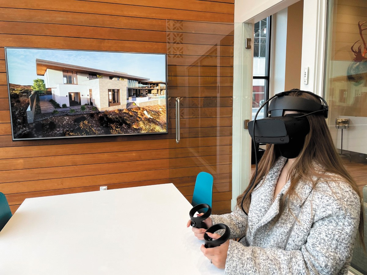 """Clients at HDG Architecture can """"walk through"""" designs using virtual reality goggles. Software can also simulate lighting at any time of the day or season of the year. - HDG ARCHITECTURE PHOTO"""