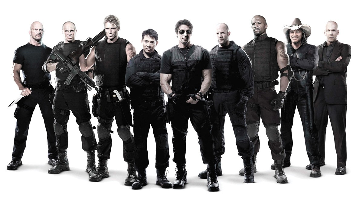 The Expendables take their action with extra cheese.