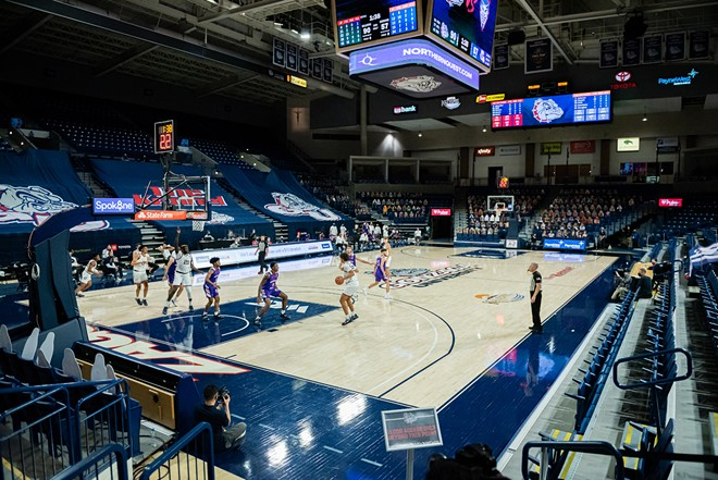 The Zags will try to take their domination in front of sparse crowds along with them to Vegas for the WCC tournament. - ERICK DOXEY