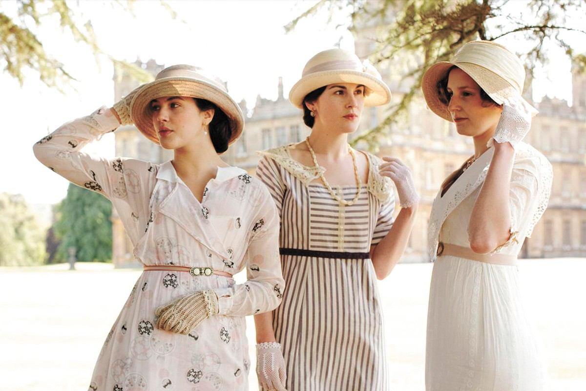 FROM LEFT: Sisters Lady Sybil, Lady Mary and Lady Edith of Downton Abbey.