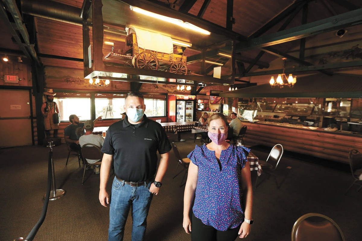 Longhorn Barbecue co-owners Zac Smith and Erin Everhart.