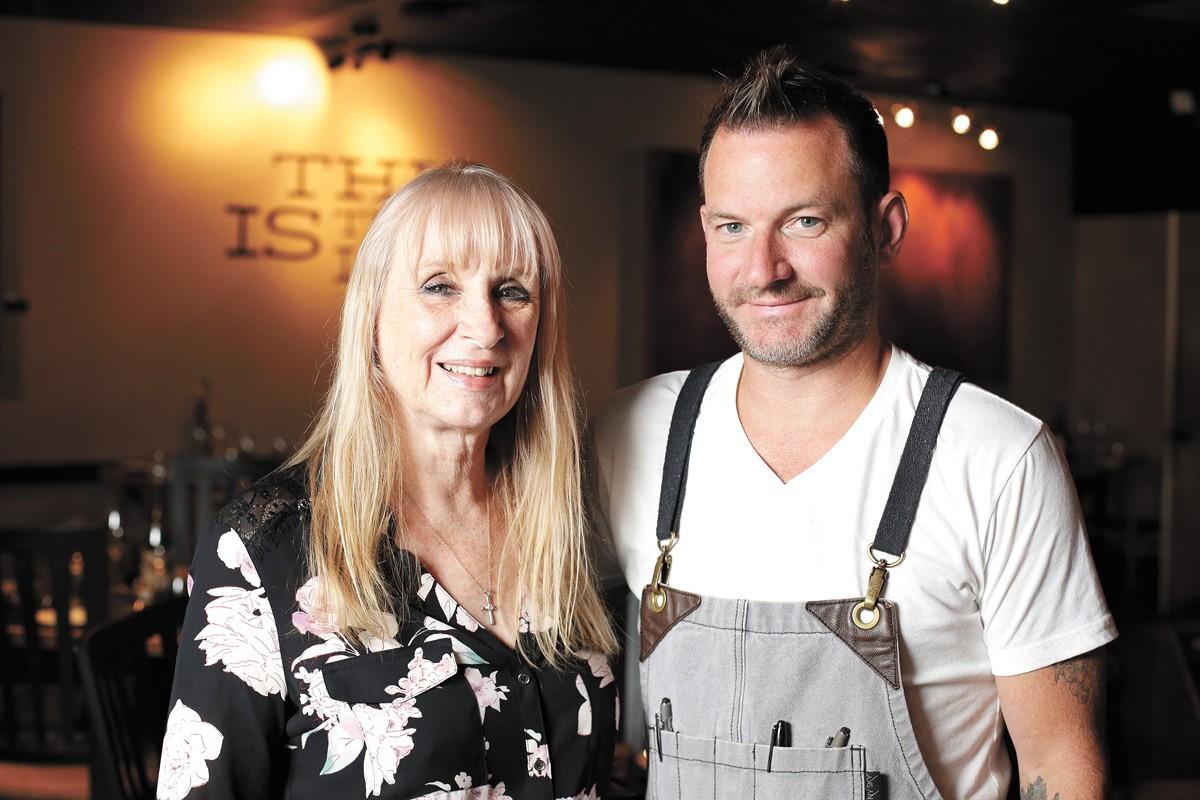 Rhonda Entner and Patrick Fechser at Hay J's Bistro