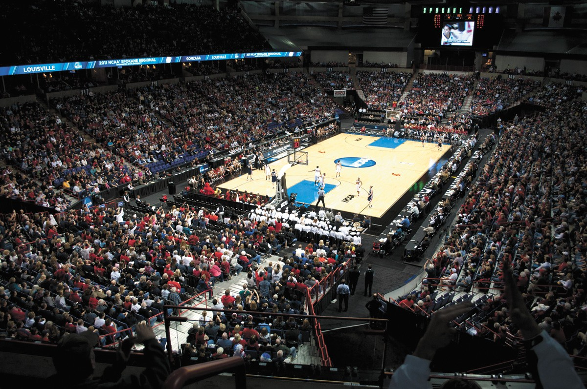 March Madness games in the Spokane Arena in 2011.