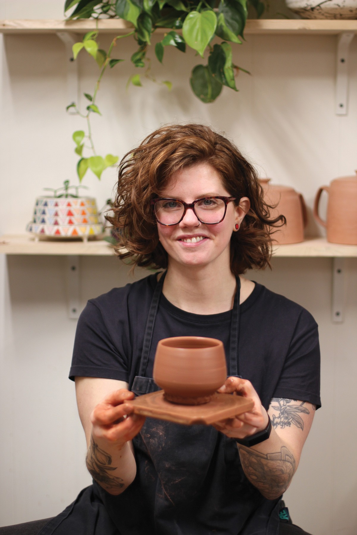 Maya Rumsey shares her carefully detailed artistic process with nearly 60,000 Instagram followers. - CARRIE SCOZZARO PHOTO
