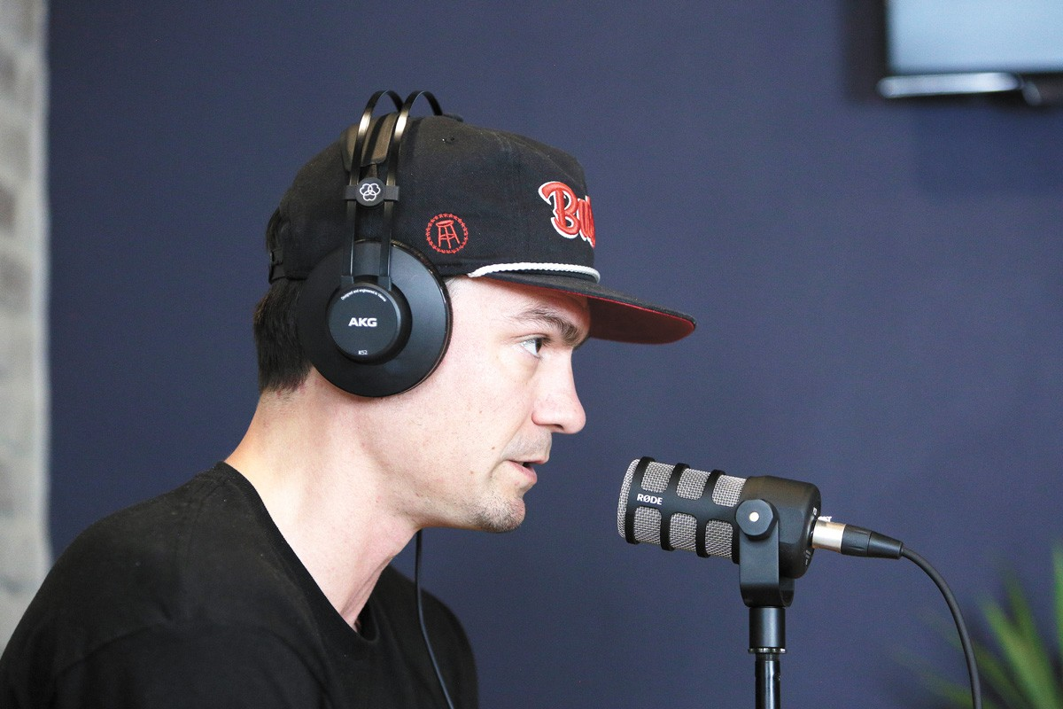 """Hoops legend Adam Morrison adds """"podcast dude"""" to his resume. - YOUNG KWAK PHOTO"""