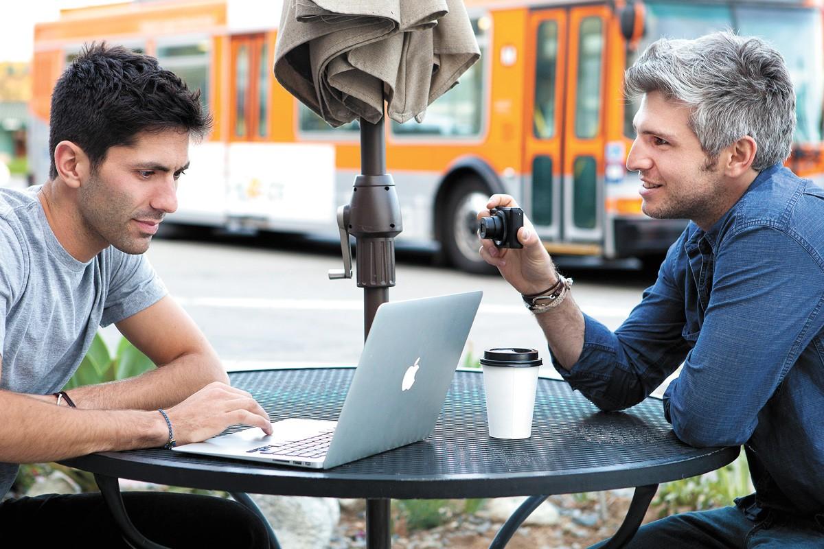 Nev Schulman (left) and his former Catfish co-host Max Joseph.