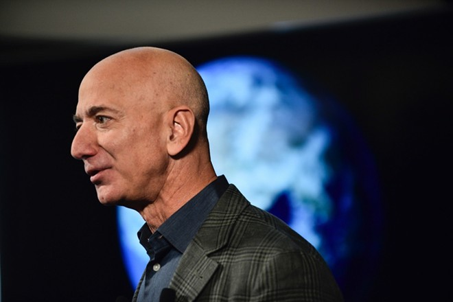 Amazon CEO Jeff Bezos speaks at the National Press Club in Washington, on Thursday, Sept. 19, 2019. - EMMA HOWELLS/THE NEW YORK TIMES