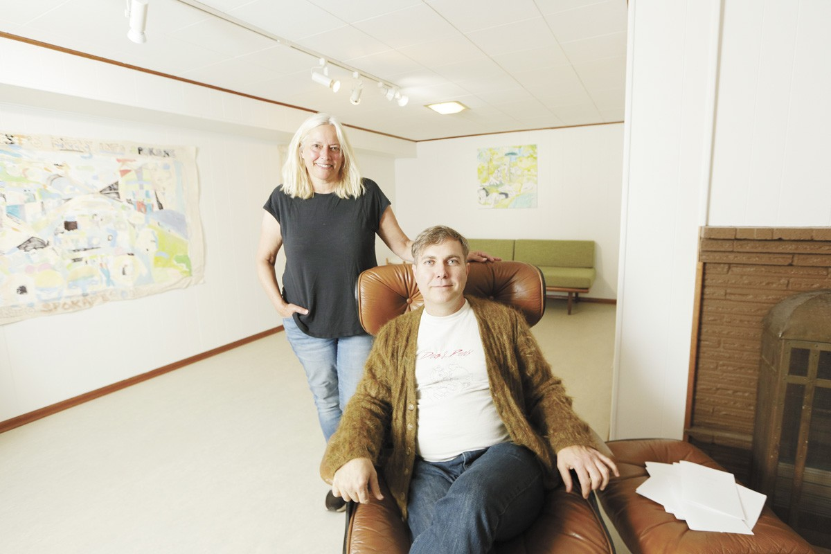 Dog & Pony owner Christopher Russell (right) and current show curator Kim Deater - YOUNG KWAK PHOTO