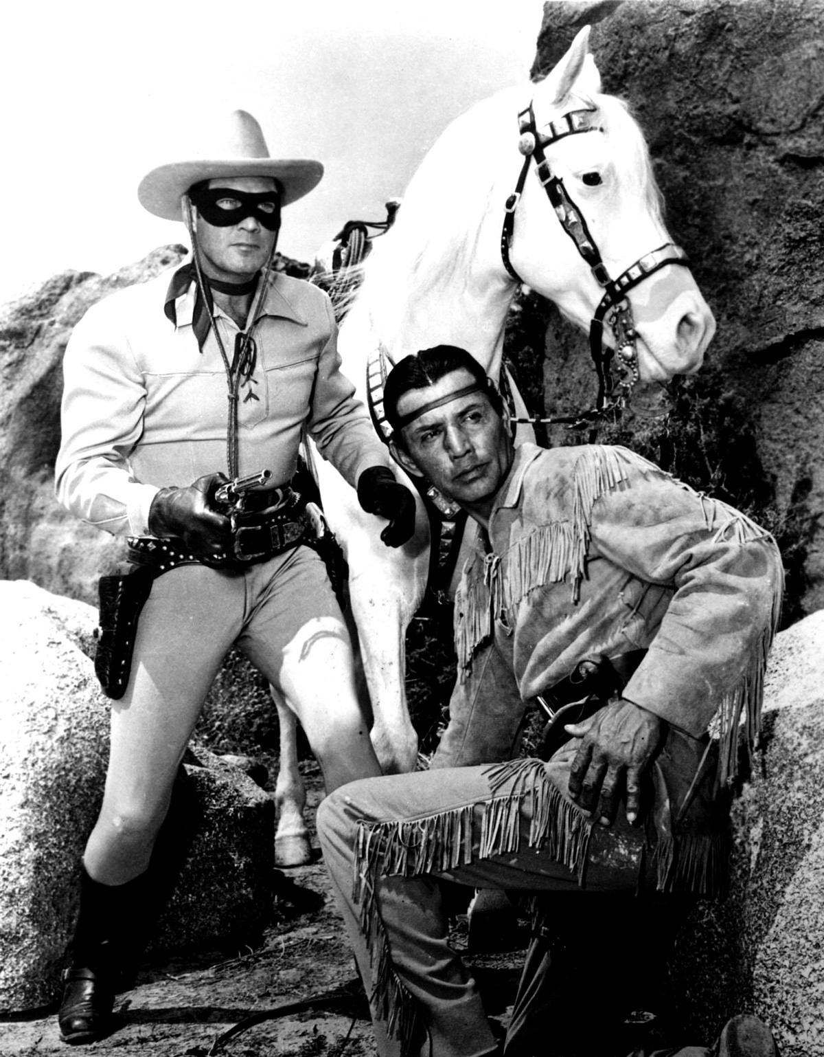 """Among the items included in the """"appropriation window"""" is a photo of the Lone Ranger and Tonto."""