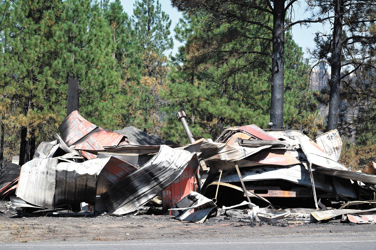 Malden, a town of roughly 200 people, was decimated by a wildfire last season. - WILSON CRISCIONE PHOTO