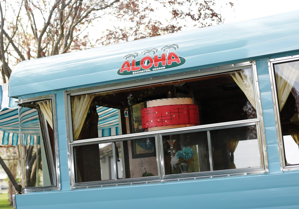 """Les and Valerie Watson enjoy taking their restored 1962 World's Fair camper to events with other vintage trailer enthusiasts. """"It's all about the people, it's all about the crowd,"""" says Valerie. - YOUNG KWAK PHOTO"""