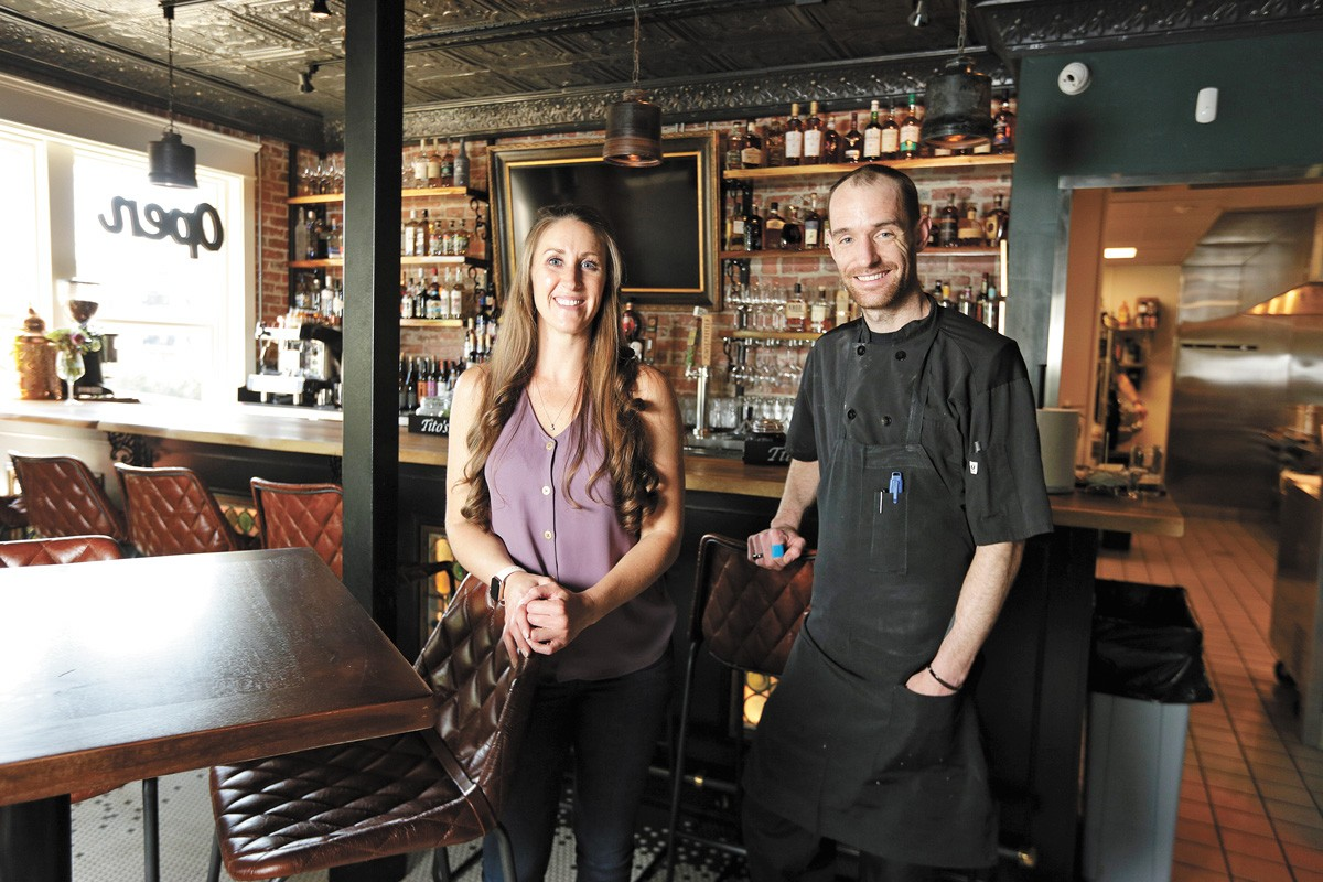 Vieux Carre's owner Korri McElfresh and Executive Chef Logan Maus. - YOUNG KWAK PHOTO