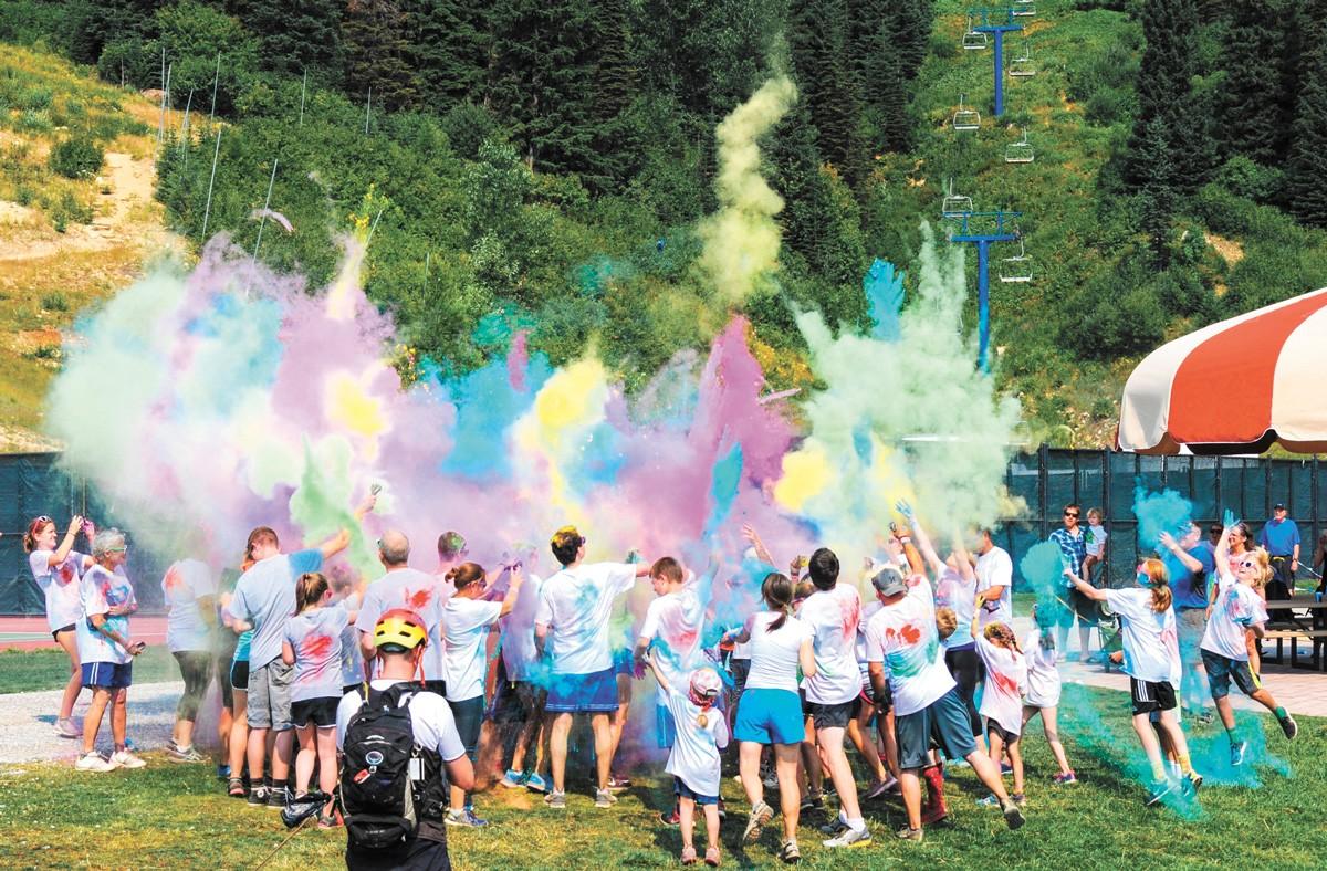 The Huckleberry Color Fun Run & Walk returns to Schweitzer Aug. 8. - SCHWEITZER MOUNTAIN RESORT PHOTO