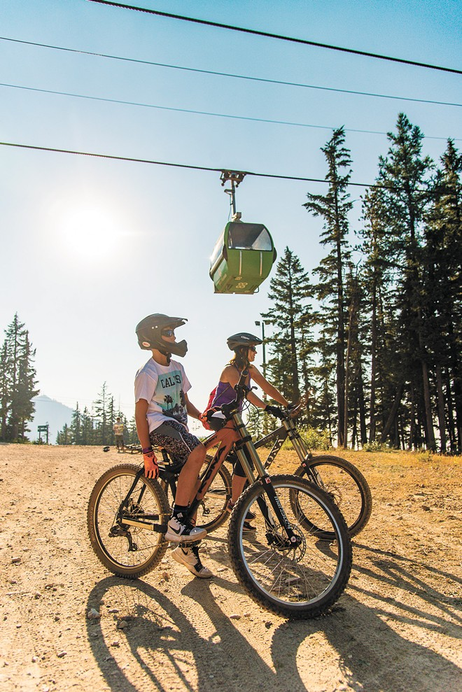 At Silver, you can drop 3,400 vertical feet, before hopping back on the lift and starting the ride all over again. - SILVER MOUNTAIN RESORT PHOTO
