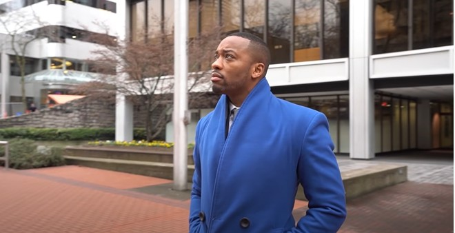 Spokane's Neighborhoods, Housing, and Human Services Division Cupid Alexander shown in a City of Portland video, back when he was an advisor to Portland Mayor Ted Wheeler. - CITY OF PORTLAND VIDEO SCREENSHOT