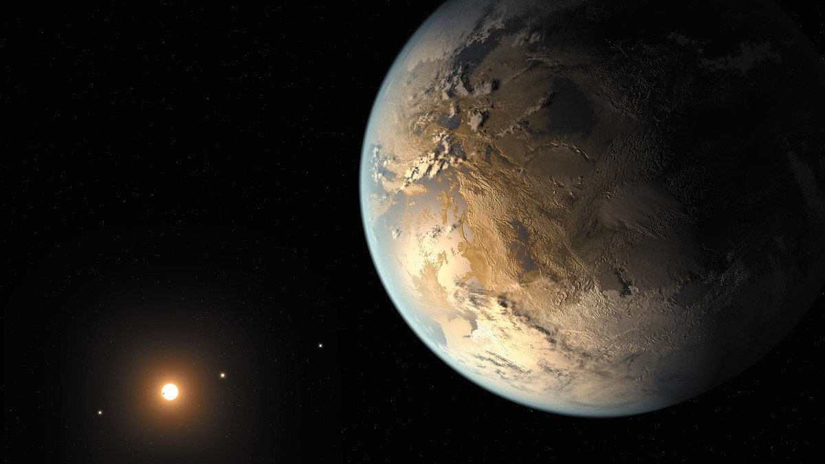 An artist's concept depicts Kepler-186f, the first validated Earth-size planet to orbit a distant star in the habitable zone. - NASA AMES/SETI INSTITUTE/JPL-CALTECH