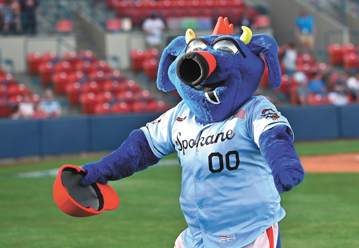 Otto shows off one of the Indians' new Operation Fly Together uniforms. - JAMES SNOOK PHOTO