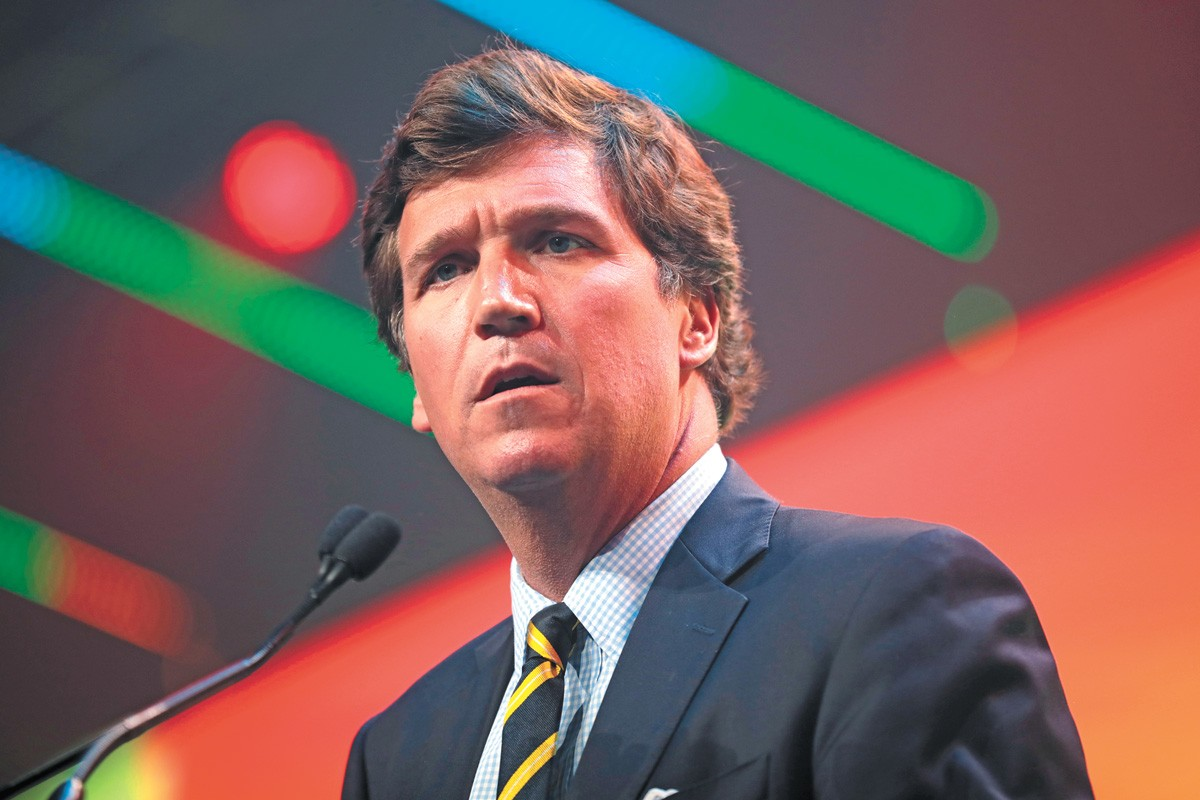 Tucker Carlson's strident, relentless, unsupportable rejection of the 2020 election has most energized his viewers. - GAGE SKIDMORE PHOTO