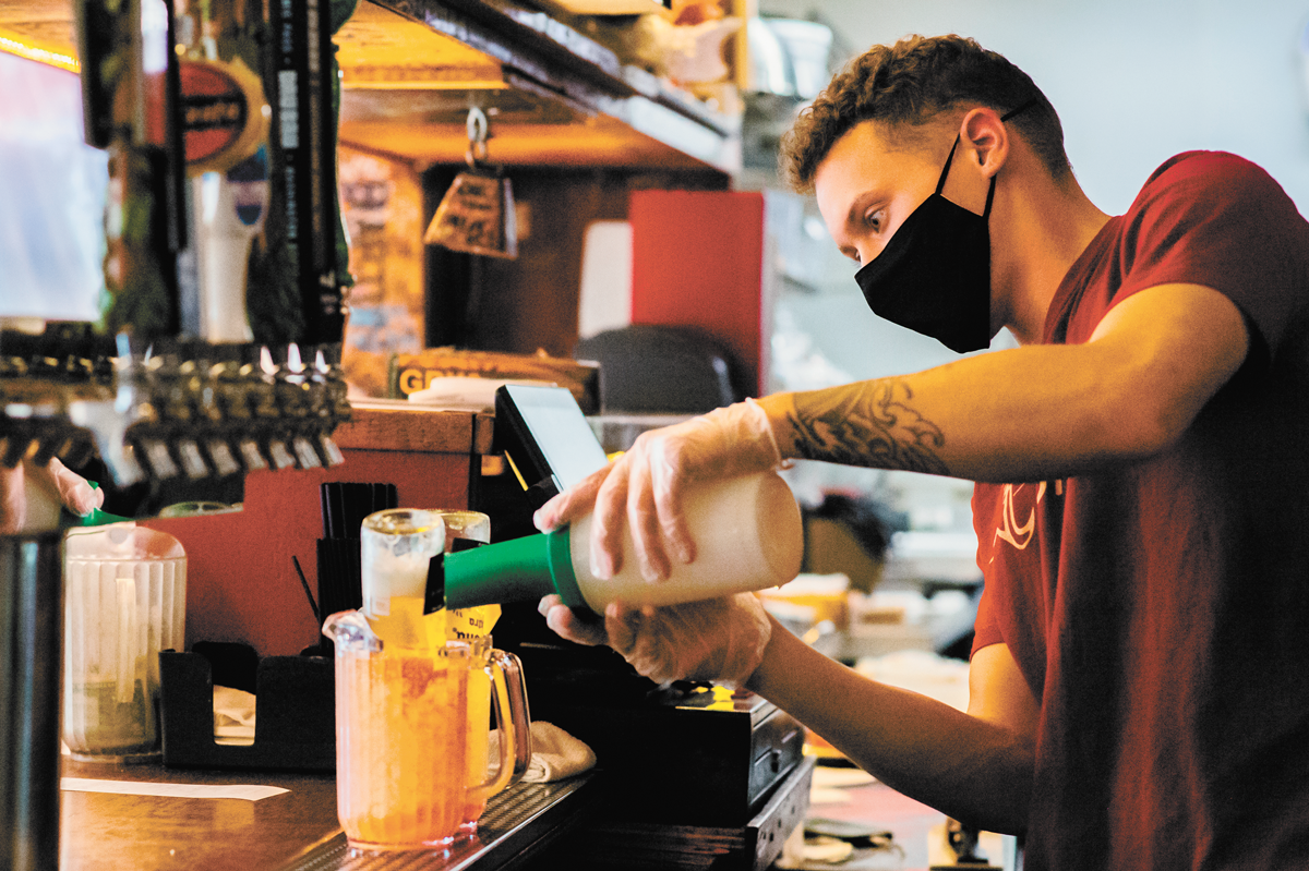 During the pandemic, the Coug offered gift cards, to-go drinks, virtual events, drink recipes and Zoom backgrounds to help stretch morale. - LANCE LIJEWSKI PHOTO