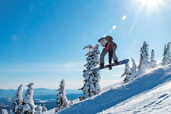 Whether you prefer two skis or one board, Mt. Spokane is the place to shred. - BOB LEGASA PHOTO