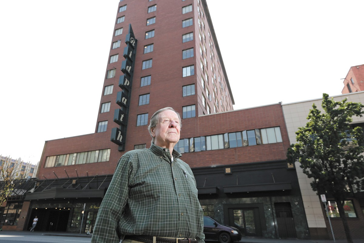 Paul Mann isn't just a co-owner of the Ridpath; he lives in a condo at the top floor. - YOUNG KWAK PHOTO