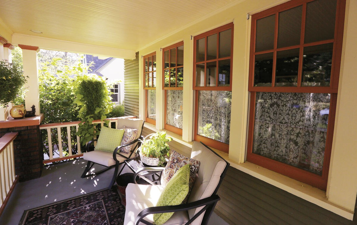 One of homeowner Megan Duvall's favorite spaces at her 1925 Craftsman home is the welcoming front porch. - YOUNG KWAK PHOTO