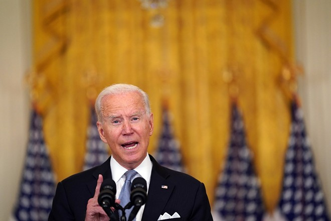 President Joe Biden delivers remarks on Afghanistan in the East Room of the White House in Washington on Monday, Aug. 16, 2021. The Taliban takeover in Afghanistan underscores the failure of U.S. diplomats to gauge realities on the ground in Afghanistan. - STEFANI REYNOLDS/THE NEW YORK TIMES