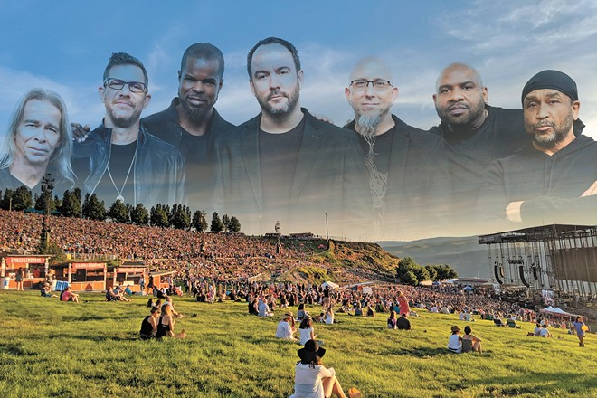 Dave Matthews feels right at home at the Gorge. - DEREK HARRISON PHOTO ILLUSTRATION