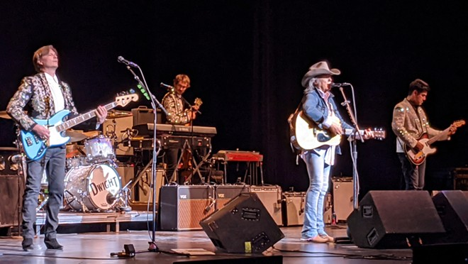 Dwight Yoakam and his band ripped through 20+ songs at the First Interstate Center for the Arts Sunday night. - DAN NAILEN
