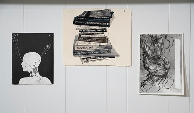Images from the My Body, My Truth exhibit currently on display at Dog & Pony gallery space. - COURTESY CHRISTOPHER RUSSELL