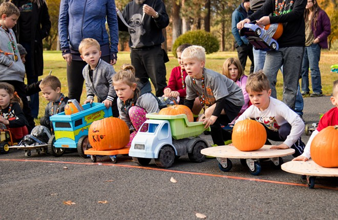 The Great Pumpkin Race (photo from previous year) is back at Greenwood Memorial Terrace Oct. 16. - MEALS ON WHEELS SPOKANE
