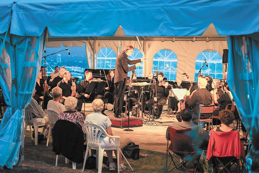 Hear the Spokane Symphony at Soirée on the Edge on Aug. 12 and 19.