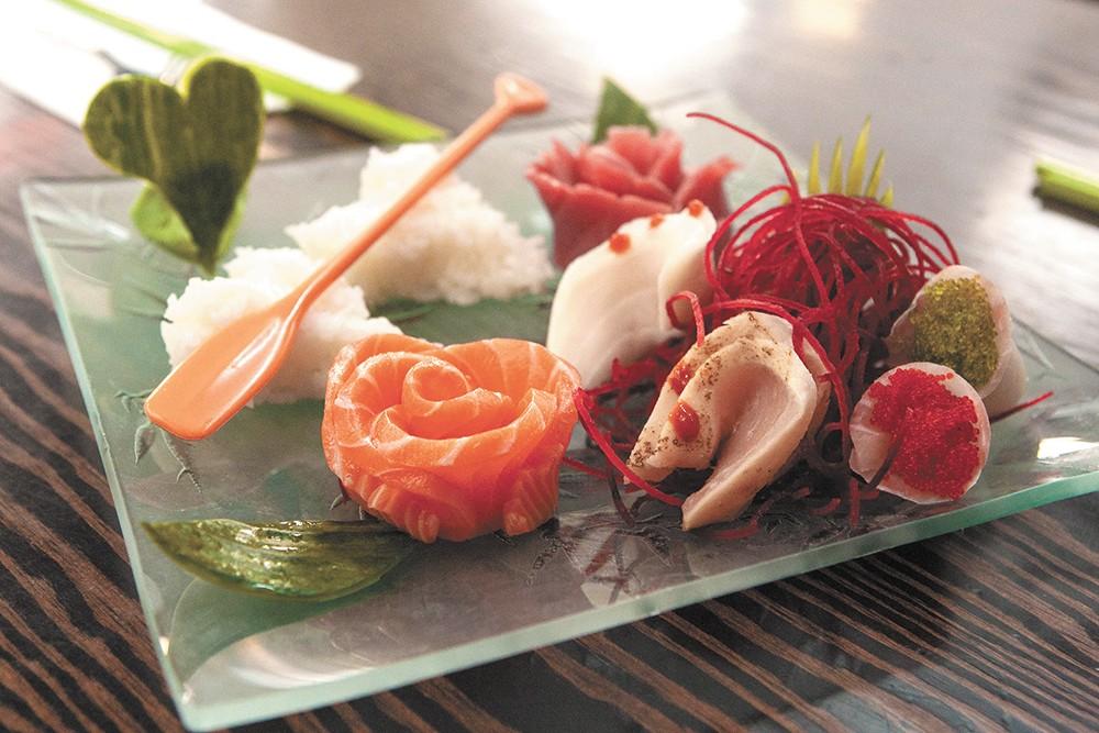 The sashimi dinner from QQ Sushi & Kitchen. - MEGHAN KIRK