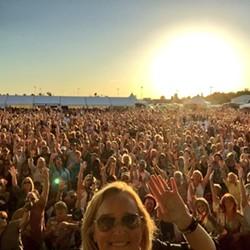 Melissa Etheridge's selfie from Monday night's Northern Quest concert. - TWITTER