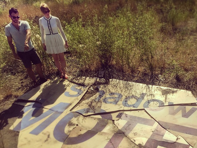 Davis and Montgomery visiting the old site of the Shadows Motel. - ANDREW DAVIS