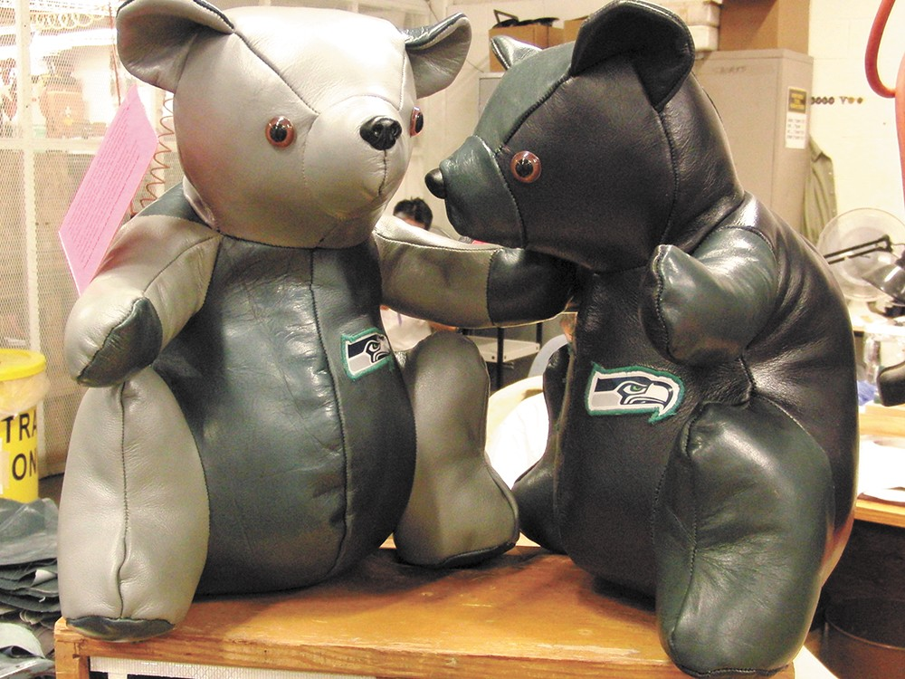 State inmates learn job skills by sewing teddy bears for charity. - LAEL HENTERLY