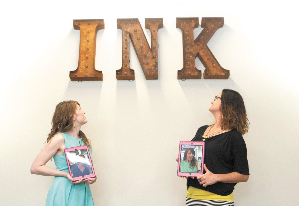 Brooke Matson (left) and Valerie Nafe are directors at the new Spark Center, which is also now home to INK Artspace. - MEGHAN KIRK