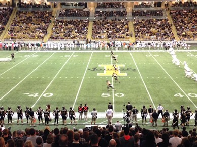 The kickoff of the Vandals' 2015 season. - MIKE BOOKEY