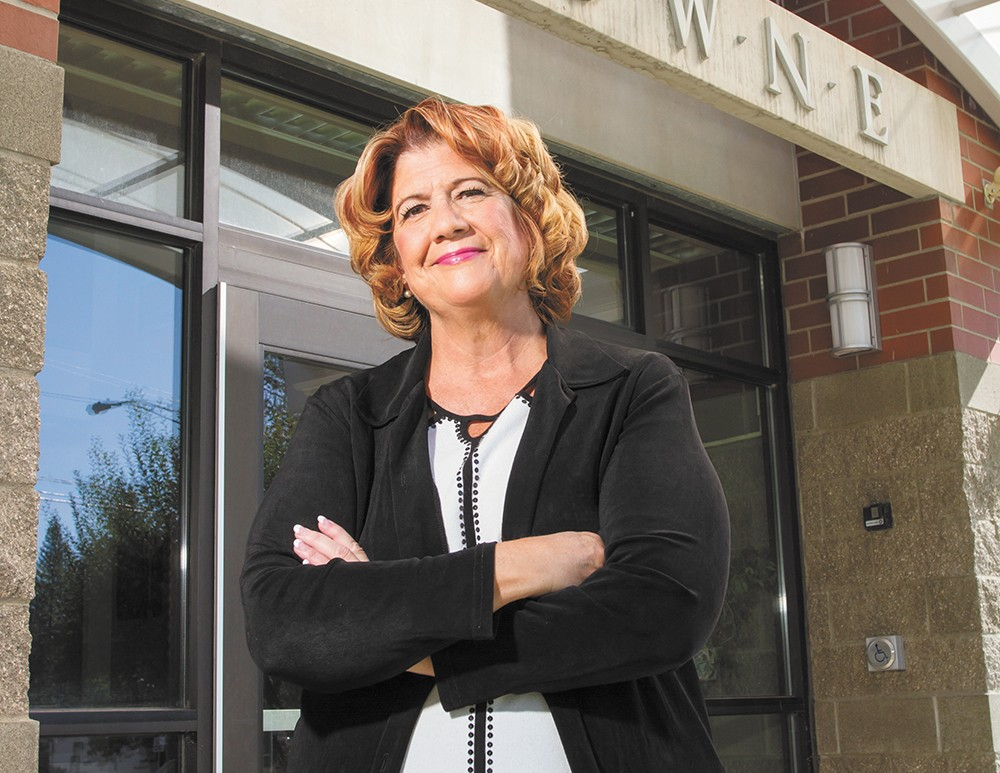 Even Spokane Education Association President Jenny Rose has been surprised by the union's votes this year. - JEFF FERGUSON