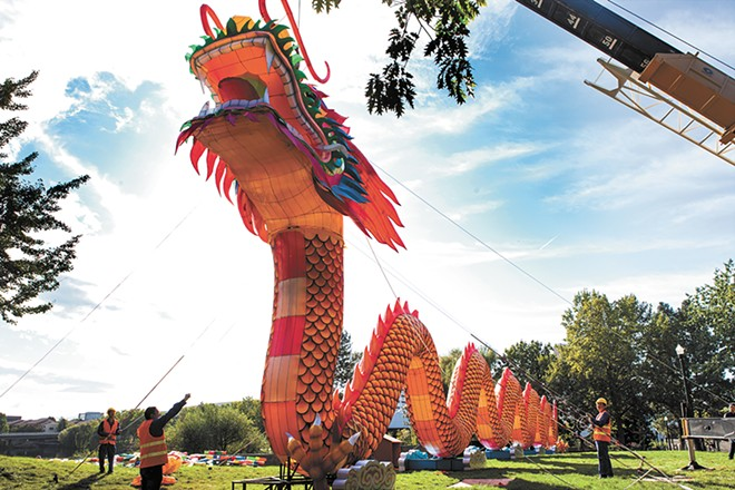 The festival features 31 lantern displays, including a 196-foot-long dragon. - KRISTEN BLACK