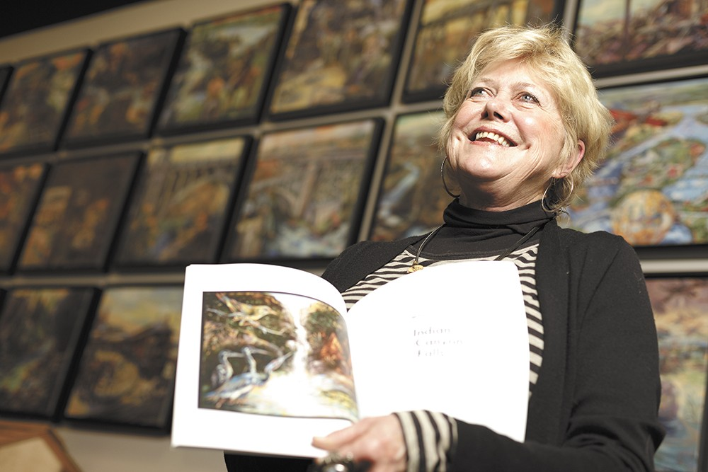 A series of paintings by artist Kay O'Rourke (pictured) is hanging in Kendall Yards and has been reproduced in a book. - YOUNG KWAK
