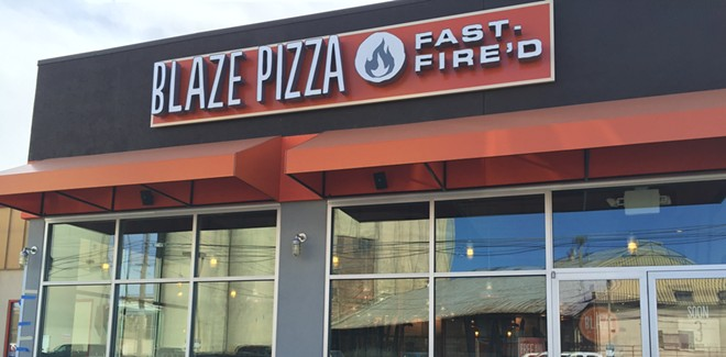 The new location of Blaze Pizza opens Friday with a free pizza promotion. - MAX CARTER