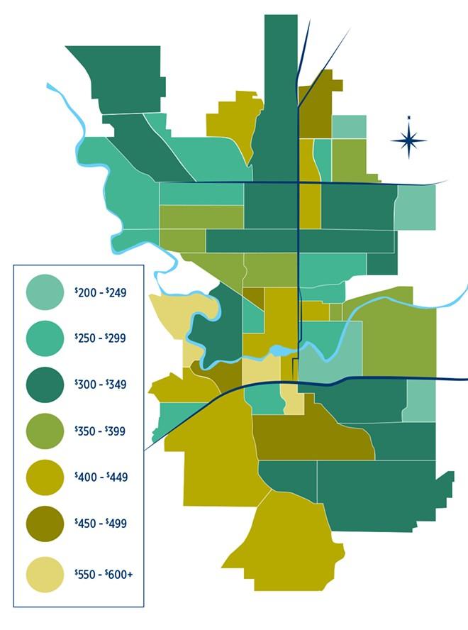 Spokane rental map