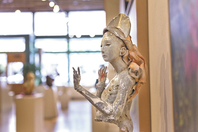 One-of-a-kind sculptures are on display at Coeur d'Alene's Art Spirit. - TIMOTHY PHILLIPS