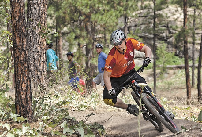 Travis Nichols tears up the trail at Beacon Hill. - TIMOTHY PHILLIPS
