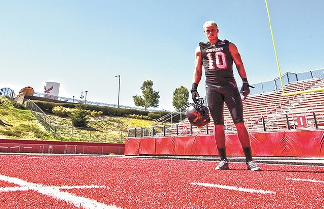 "Two-time All-American Cooper Kupp stands on his home turf at ""The Inferno."""
