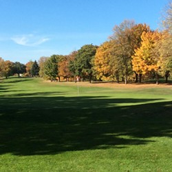 The trees boast vibrant fall colors at Esmeralda Golf Course - SPOKANE PARKS AND RECREATION
