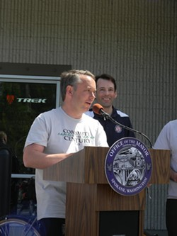 David Condon during Bike to Work Week - JAKE THOMAS